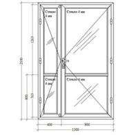 Холодные Алюминиевые Двери (Эконом)