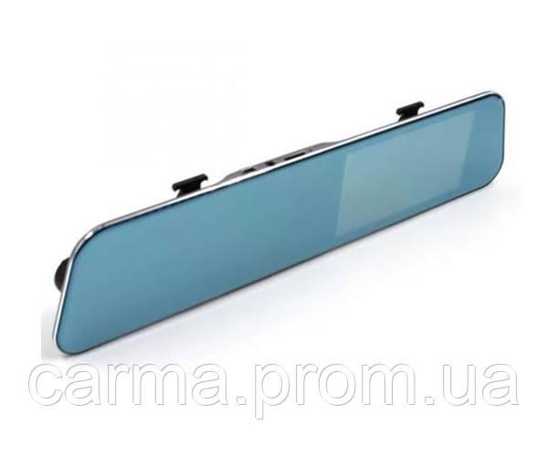 """Видеорегистратор в зеркале заднего вида с двумя камерами сенсорный Экран 4,3"""" DVR A29 Серый"""