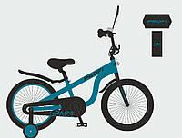 Велосипед детский PROF1 18д. SY18151 (1шт)Space,изумруд,свет,звонок,зерк.,доп.колеса