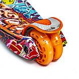 Самокат трехколесный детский Maxi Graffity светящиеся колеса, фото 3