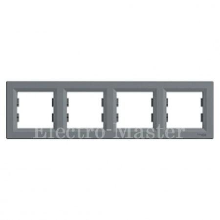 Рамка 4-постовая горизонтальная сталь Asfora Schneider