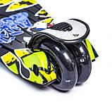 Самокат трехколесный детский Maxi Joker светящиеся колеса, фото 3