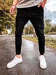 Джинсы - мужские черные джинсы джогеры, фото 2