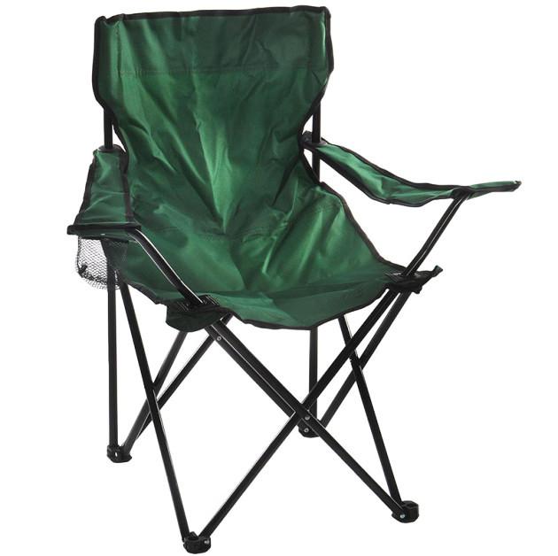 Туристичне розкладне крісло з підсклянником для пікніка та риболовлі до 100 кг Павук 50х50х80 см STENSON