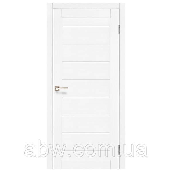 Межкомнатная дверь Korfad PND-01 белый ясень