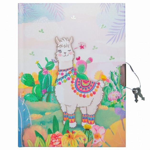 """Блокнот в подарочной упаковке с ручкой """"Веселая лама"""" 56 листов, Malevaro"""