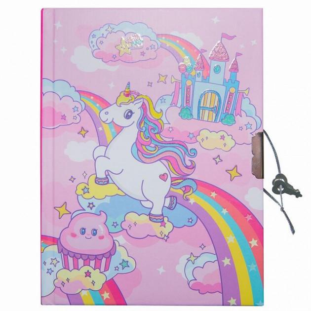 """Блокнот в подарочной упаковке с ручкой """"Единорог розовый"""" 56 листов, Malevaro"""