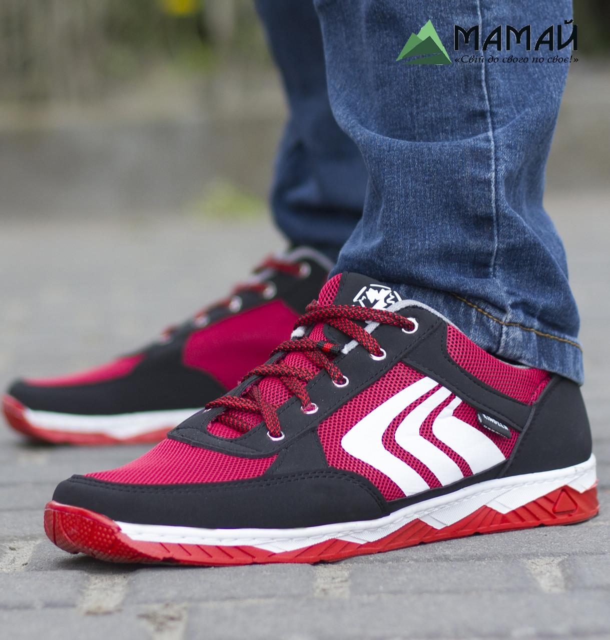 Кросівки чоловічі сітка червоні 41р