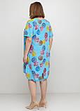 Голубое платье оверсайз Made in Italy с рисунком, фото 2