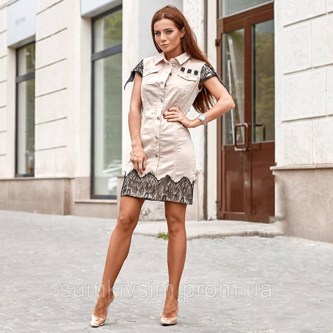 Женское платье с кружевной вышивкой