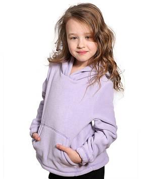 Толстовка флисовая для девочки (на рост 110-152 в расцветках)
