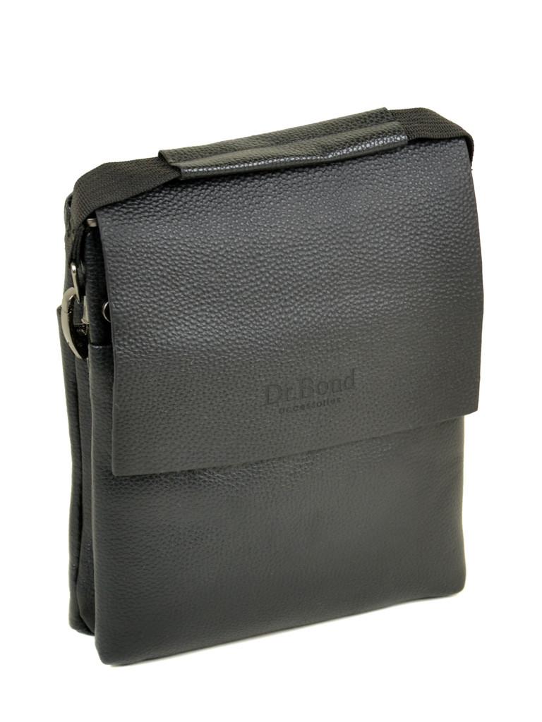 Шкіряна чоловіча сумка через плече / Мужская кожаная сумка через плечо DR. BOND 204-2
