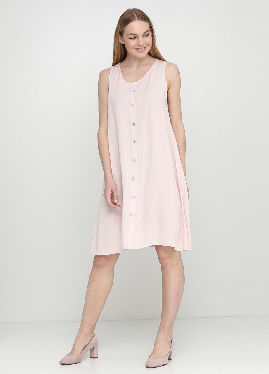 Кремове плаття міді Moda in Italy однотонне