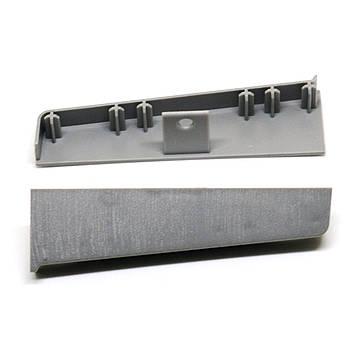 Заглушки к плинтусу Hi Line Prestige Cezar Aluminium Матовый