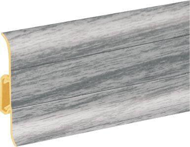 Плінтус ПВХ Premium Cezar Дуб сірий світлий Матовий