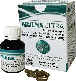 Арджуна Ультра - аюрведичні капсули гіпертонії, атеросклерозі та інших розладах серця і смокчу