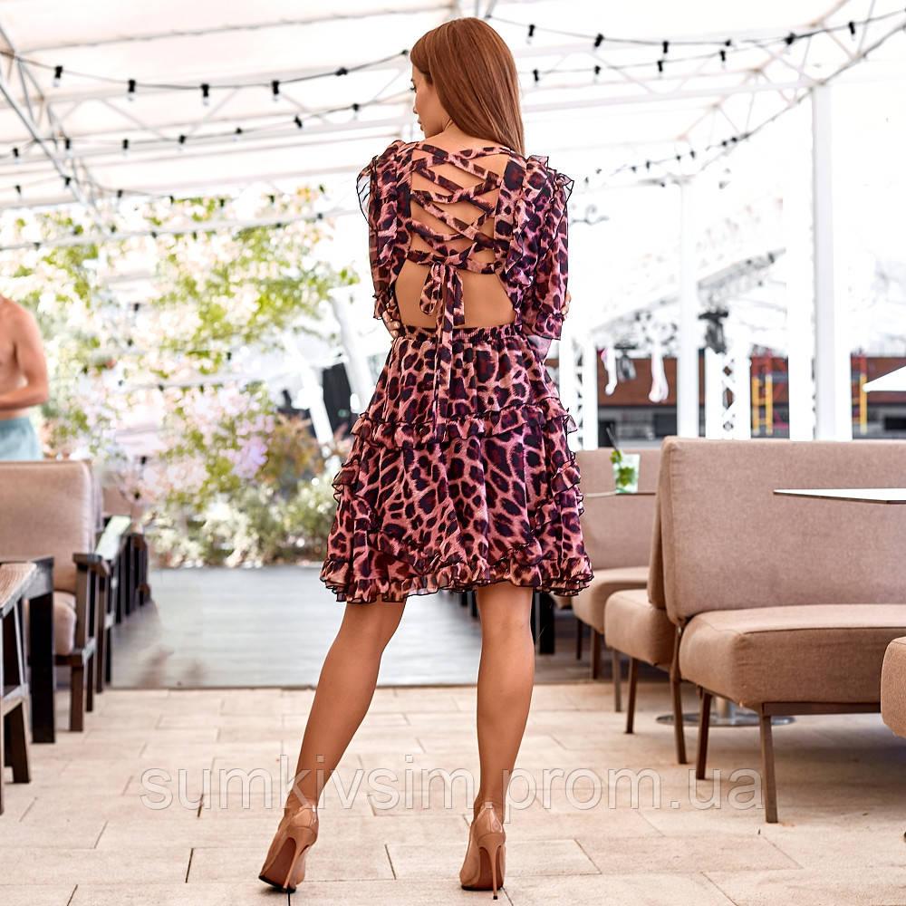Женское платье с открытой спиной