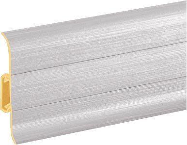 Плинтус ПВХ Premium Cezar Aluminium szczotkowane Матовый