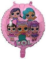 Гелиевый шар фольга 45см Кукла Лол DBCM-0112