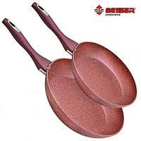 Набор сковородок с индукционным дном Besser Stone 2 шт (10330) (набір сковорідок з індукційним дном), фото 1