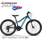 Велосипед 24 HAIBIKE SEET HardFour 1.0 рост 135-150см синий 2020 детский (4100030930), фото 1
