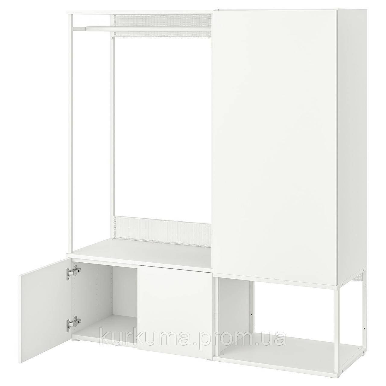 IKEA PLATSA Шкаф, белый, Фоннбелый белый, 140x42x161 см (193.239.29)