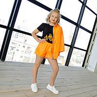 Куртка ветровка оранжевая на девочку-подростка рост 134-170