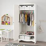 IKEA SMAGORA Шкаф, белый, 80x50x187 см (104.608.88), фото 2