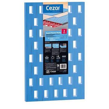 Підкладка XPS Cezar для підлог з підігрівом 3 мм