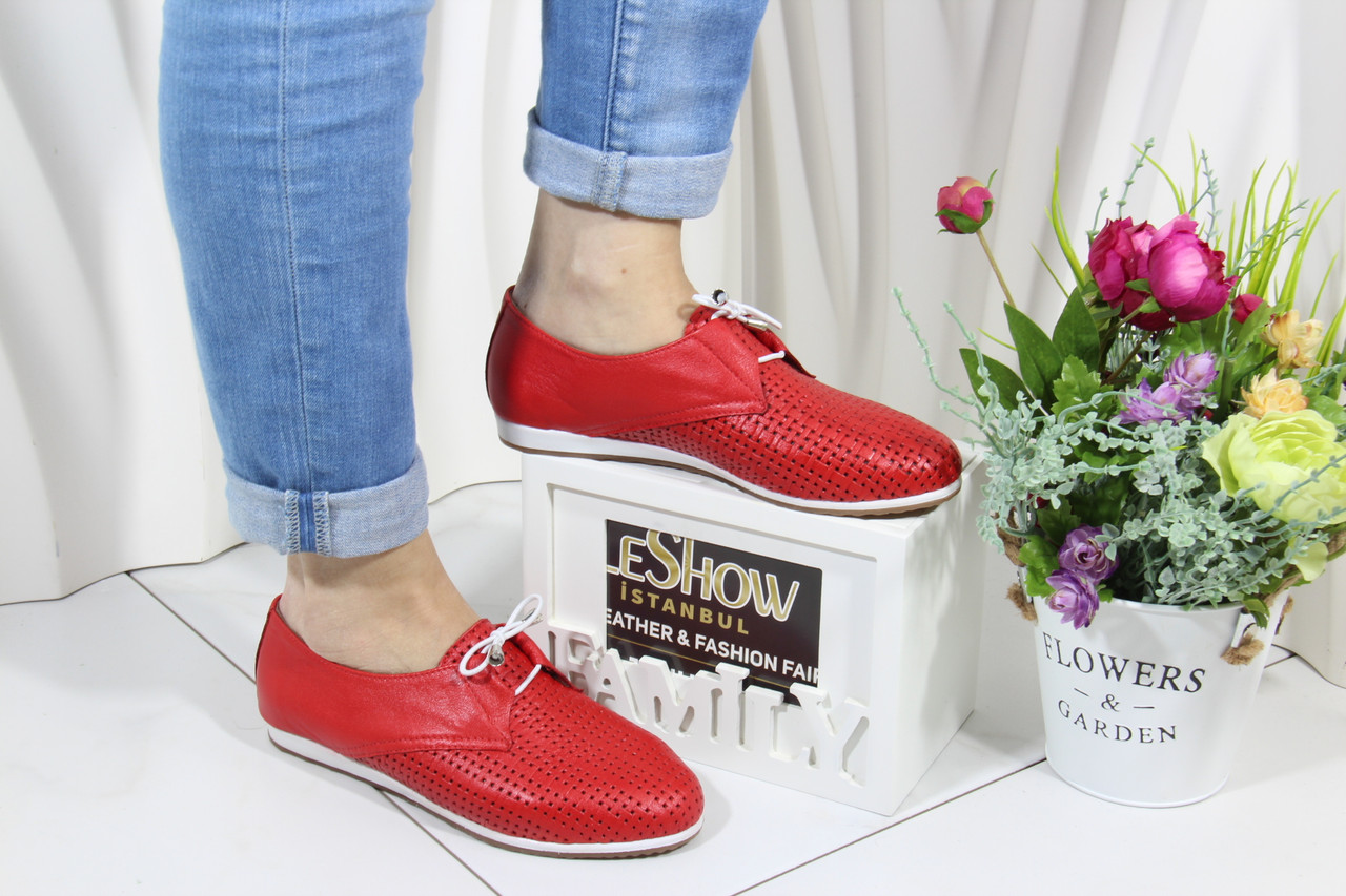 Красные мокасины Aras Shoes K-19-kirmizi