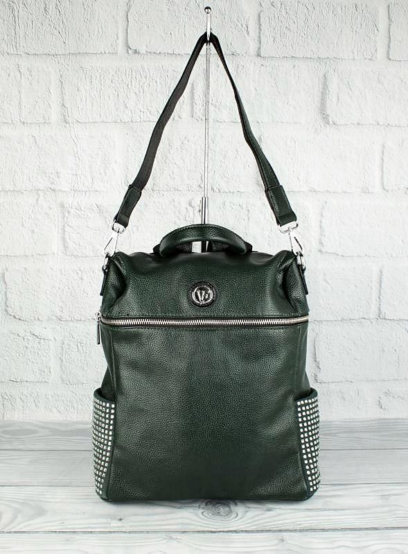 Рюкзак женский зеленый с камнями Velina Fabbiano 571183-1