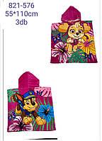 Полотенце-пончо для девочек PAW PATROL