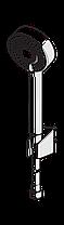 534 Apollo душовий комплект з 3-х режимною лійкою EcoFlow,шланг,тримач, фото 3