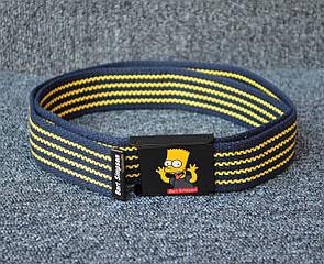 Ремінь Supreme Bart Simpson blue / yellow
