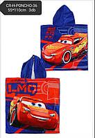 Полотенце-пончо для мальчиков Cars