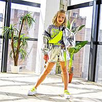 Куртка ветровка серебряная на девочку-подростка рост 140-176
