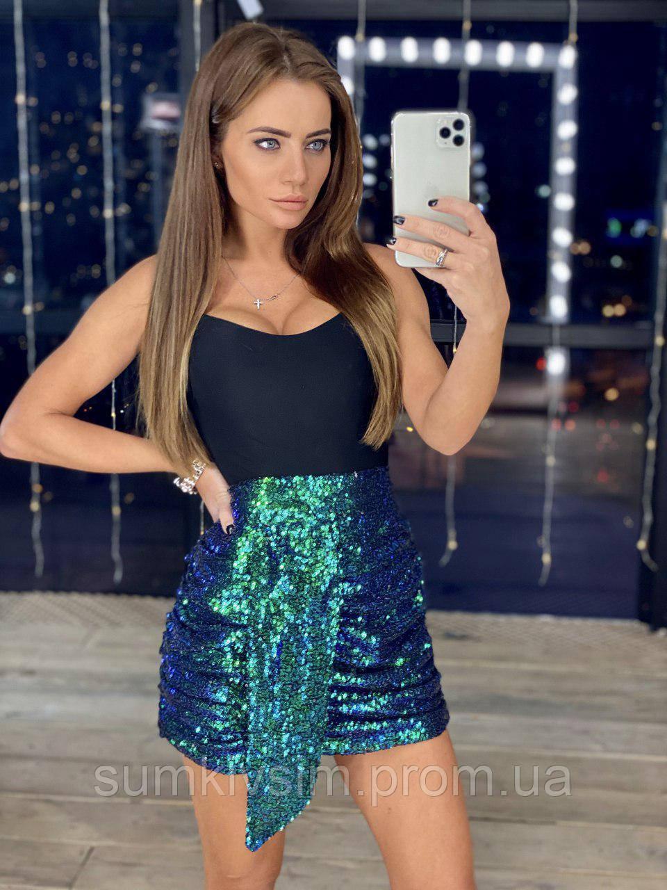 Женская юбка с пайетками