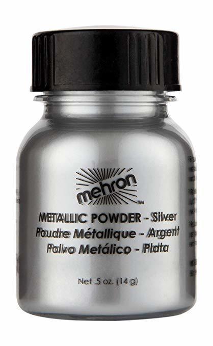 MEHRON МЕТАЛЛИЧЕСКАЯ ПУДРА-ПОРОШОК METALLIC POWDER, SILVER (СЕРЕБРО), 15 Г