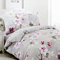 Полуторный комплект постельного белья. Сатин. Elway 5073 Lily