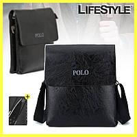 Мужская сумка через плечо Polo Videng Leather + Подарок