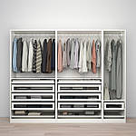 IKEA PAX / TYSSEDAL Шкаф, белое, белое стекло, 250x60x201 см (893.249.49), фото 2