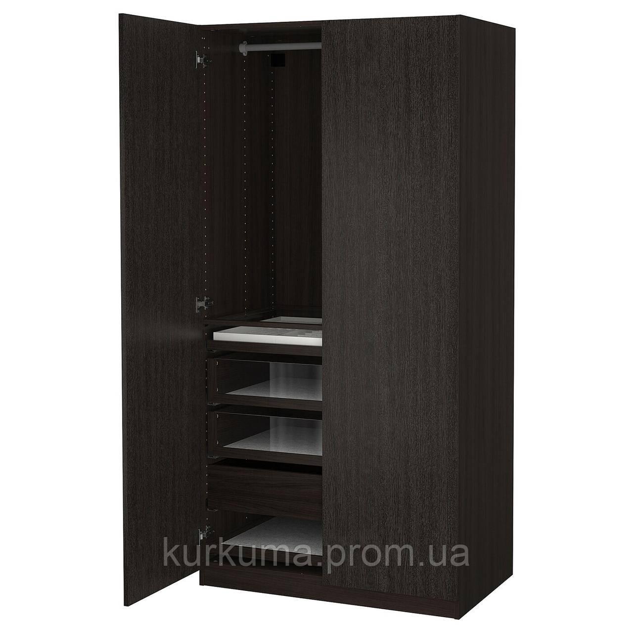 IKEA PAX / FORSAND Шкаф, черный коричневый, имитация пчелиного тимьяна, (993.249.39)