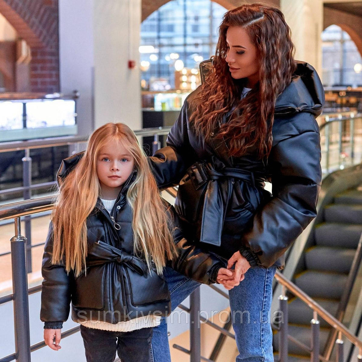 Детская куртка из экокожи Family Look