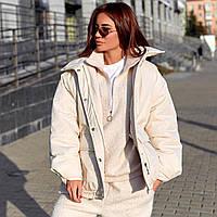 Объемная куртка с накладными карманами, фото 1