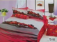 """Комплект детского постельного белья полуторный хлопковый Elway TD-168 """"Феррари"""""""