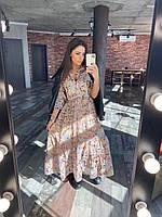 Удлиненное весеннее платье