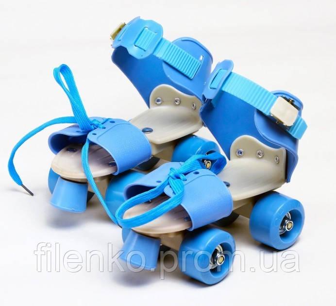 Ролики Квади розсувні Scooter 4009B New Version 2020 (M 35-38) Блакитні