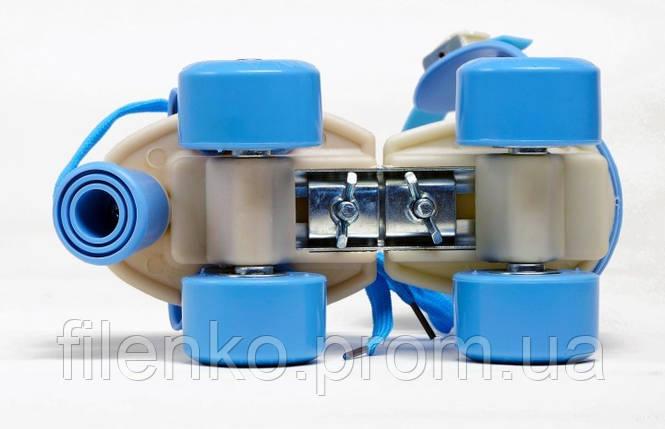 Ролики Квади розсувні Scooter 4009B New Version 2020 (M 35-38) Блакитні, фото 2