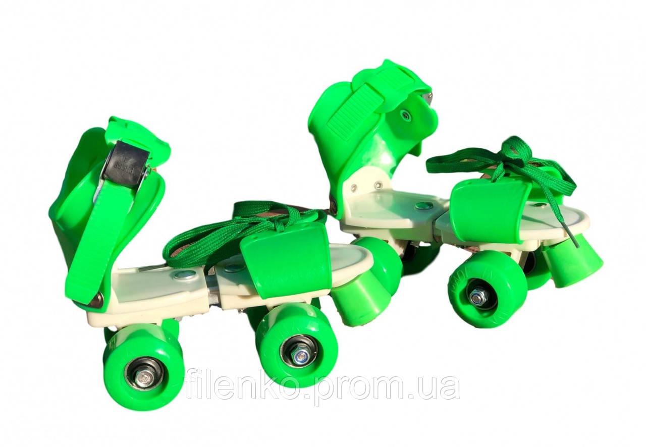 Ролики Квади розсувні Scooter 4009B New Version 2020 (M 35-38) Зелені