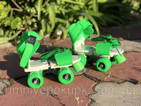 Ролики Квади розсувні Scooter 4009B New Version 2020 (M 35-38) Зелені, фото 2